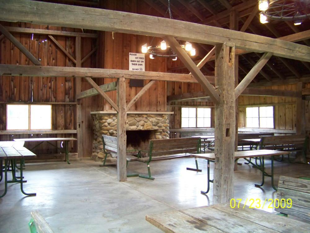 Audubon Barn interior