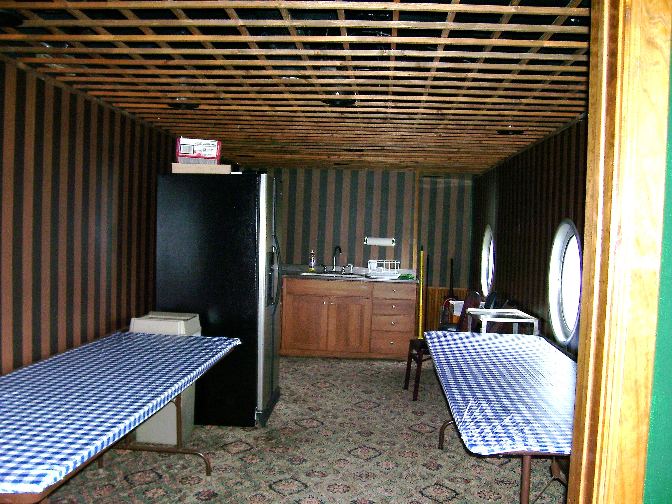 Dining Car Kitchen Area
