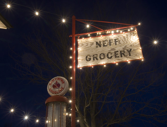 Neff Store Holiday Lights